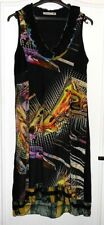 Jolie robe maille noir motifs colorés SOGGO T 42 TBE