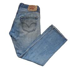 Vintage LEVIS 501 Jeans   W34 L30   Light Blue Wash Straight Leg Button Fly