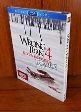 -NEW- Wrong Turn 4 - Bloody Beginnings w/ Slip Cover (Blu Ray / DVD)