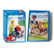 Playmobil Child in Wheelchair 6663 + 4407 Niño en Silla de Ruedas Hospital New