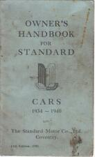 Paper 1934 year car owner operator manuals ebay standard 8hp 9 10 flying 10 12 12hp flying light 12 1934 40 instruction handbook publicscrutiny Choice Image