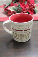 STARBUCKS Coffee 2008 Twelve Days of Christmas 14 oz Mug Cup Star Bucks