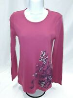 Women's Large Pink Floral Old Navy Knit Top
