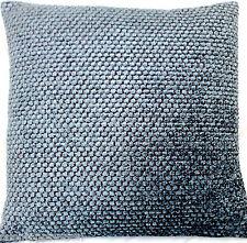 Blue Cushion Cover Designers Guild Throw Pillow Case Chenille Fabric Brescia