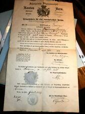 #3581,Scarce Canton of Bern 1880's Document
