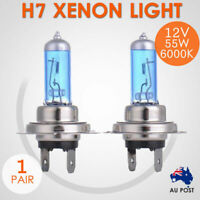 12V H7 55W Xenon White 6000k Halogen Car Head Light Lamp Globes Bulbs - 1 Pair