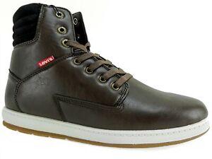 Levi's Men's Fletcher II Burnish II High Top Sneakers Brown/Black Size 9 M