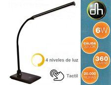 Lampara LED De Sobremesa 6W - Flexo Mesa Estudio - Tactil - 4 Niveles De Luz