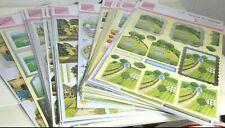 Nip Lot of 29 Anita's Docrafts Foiled Decoupage Sticker Sheets