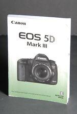 #1 Canon Eos 5D Mark Iii Genuine Camera Instruction Book / Manual / User Guide