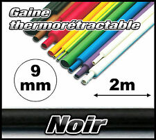 GN09-2# gaine thermorétractable noir 9mm 2m  gaine thermo noir