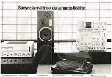 PUBLICITE  1978   SANYO   hi-fi   platine ampli enceintes (2 pages)