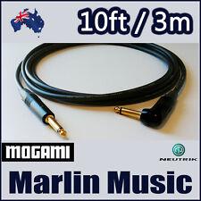 Neutrik Gold Guitar Bass 10ft Instrument Cable - Mogami 2524 Cable [SR]
