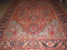 Antique 8'x11' Heriz-Serapi Carpet Norhwest Persia Rug B-6963