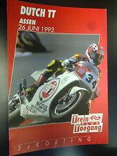 Flyer Dutch TT Assen 26 juni 1993