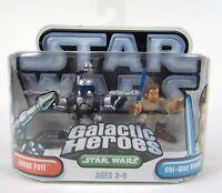 "Brand New Star Wars Galactic Heroes "" JANGO FETT and OBI-WAN KENOBI "" Figures"