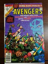 The Avengers Annual #7 , VF Thanos Saga Jim Starlin Death Of Thanos End Game