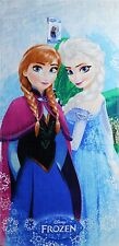 Frozen Snowflake Elsa and Anna Beach Towel measures 28 x 58 inches