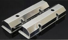 SBC FABRICATED TALL ALUMINUM VALVE COVERS w/ ACCESSORY HOLES # 6145-POL