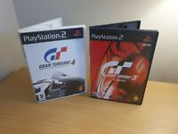 PLAYSTATION 2 - PS2 - GRAN TURISMO GAME BUNDLE 3 & 4 - COMPLETE WITH MANUALS