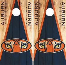 Auburn Tigers Cornhole Wrap NCAA Skin Decal Vinyl Mascot Board Set CO962