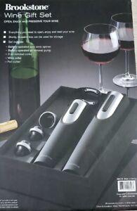 Brookstone Wine Gift Set/Silver