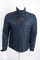 Zara Man Mens Down Puffer Jacket Coat Navy Blue Lightweight Small 6518/458 NWT