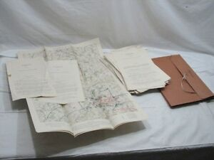 Lot Antique Fort Benning GA Defense Training Guide Exercise Maps Field Drills