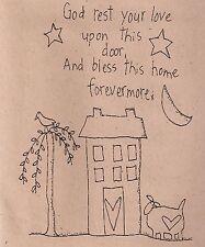 "Primitive Folk Art Stitchery Pattern by A Stitch In Time  ""Forevermore"""