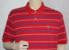 Polo Ralph Lauren Shirt  Men's Red Striped Green Horse Polo Size L Large