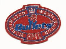 "Vintage NBA Washington Bullets Since 1974 3 1/4"" Sew On Logo Basketball Patch"