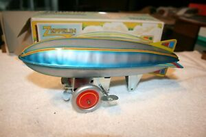 Vintage Schylling Zeppelin Collector Series  Wind-up Toy in Original Box