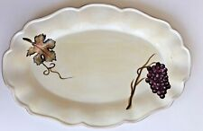 "Rare Tabletops Unlimited Villa Grande 21"" Oval Serving Platter Piece Code Pl21"