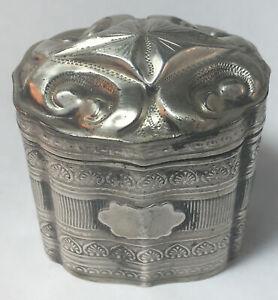 19th Century Dutch 833 Silver Snuff / Scent / Pill / Peppermint Box