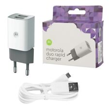 Genuine Motorola 2 Port USB Adaptive Rapid Charger & 1m Micro USB Cable EU Plug