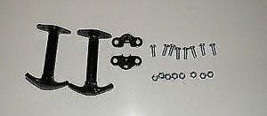 Jeepster, Wrangler, JEEP  CJ 2,3,4,6,7,8  BLACK  HOOD LATCHES NEW PAIR