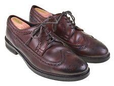 All Saints Spitalfields Burnished Burgundy Leather LWB Longwing Blucher Shoes 45