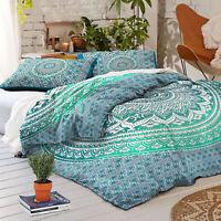 Single/Queen Size Bed Quilt/Doona/Duvet Cover Set Elephant Mandala Bedding Throw