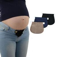 Maternity Pregnancy Waistband Belt ADJUSTABLE Elastic Waist Extender Pants HI