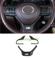 Carbon Fiber Steering Wheel Decorative Cover Trim For Lexus RX350 450H 2016-2019