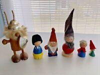 Vintage Christmas Scandinavian Santa Elves Gnome Ornaments Lot 6