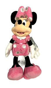 "Disney Mickey Mouse & Friends Small 14"" Minnie Mouse Plush In Pink - NWT"