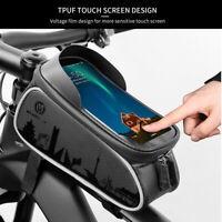 Wheel Up MTB Bike Bag Touchscreen Cycling Front Frame Waterproof Tube Phone Case