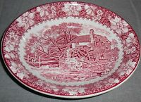 Wood & Sons PINK COLONIAL PATTERN Oval Vegetable Bowl MADE IN ENGLAND