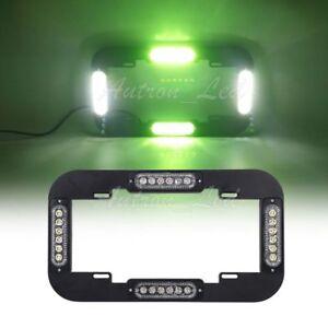 13.5 Inch 24W LED License plate lights Traffic Adviser Signal Strobe Green&White