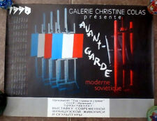 90s USSR Soviet Russian AVANT-GARDE Art Exhibition POSTER FRNACE Christine Colas