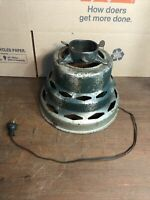 "Rare Vintage Art Deco Beehive Metal Christmas Tree Stand Lights Up 9 1/2"" Tall"