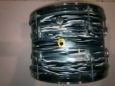 1968 Vintage Ludwig 9 x 13 Tom Black Oyster Pearl Re-Wrap. - Ringo