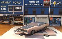 Papercraft 1970 Ford Galaxie XL 2 door coupe Paper Model Car E Z U-make