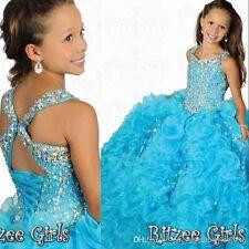 Dress National Level Pageant Formal Glitz Little Girls Junior Kids Party Prom
